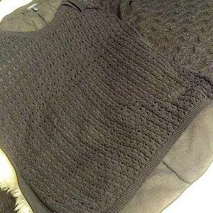 Torrid black short sleeve sweater size 2